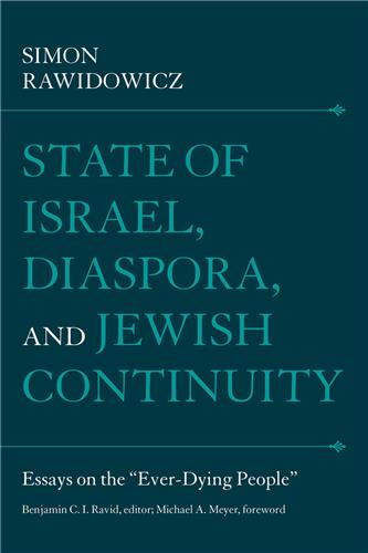 Book cover image for State of Israel, Diaspora, and Jewish Continuity